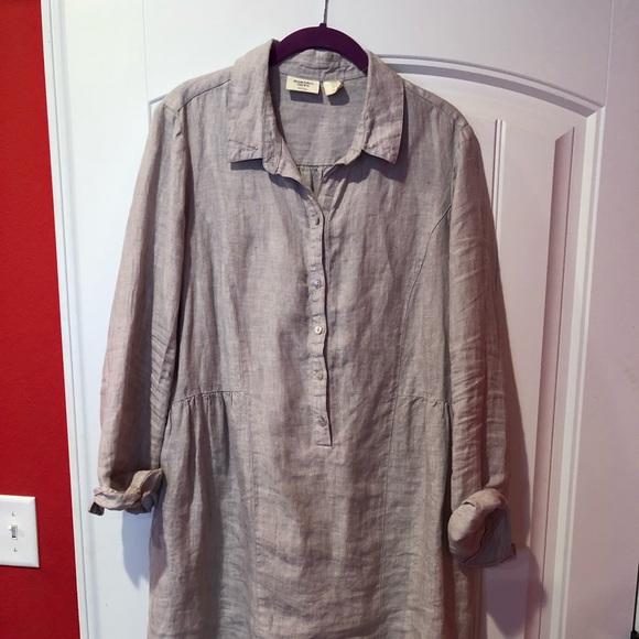 1eb226a32d Beacon Cove Linen Dress Medium